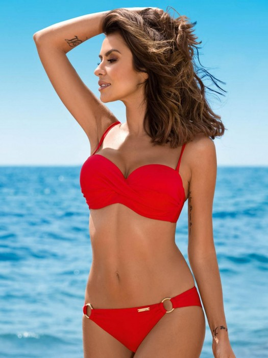 Damen Bikini 161 EVITA-G 01 R orange-rot