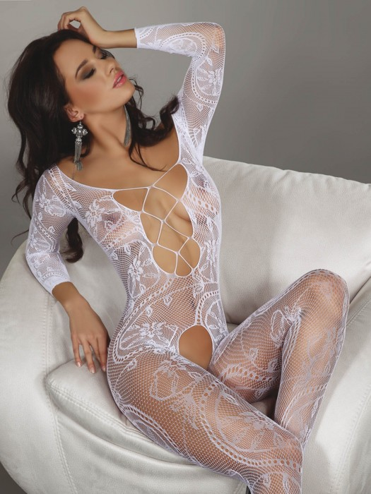 Bodystocking Zita weiß