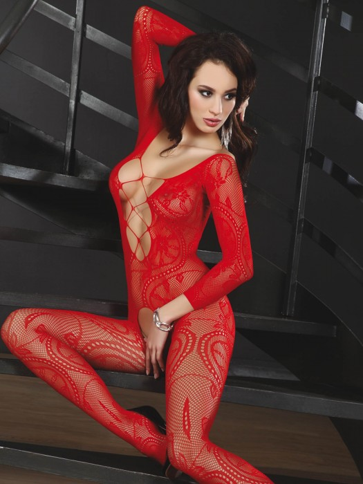 Bodystocking Zita tiefrot