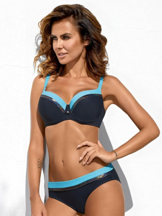 Damen Bikini 215 Esther-X-GB S/C grau+blau
