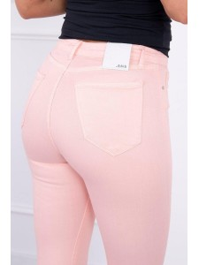 Damen 3/4 Hosen pfirsich orange