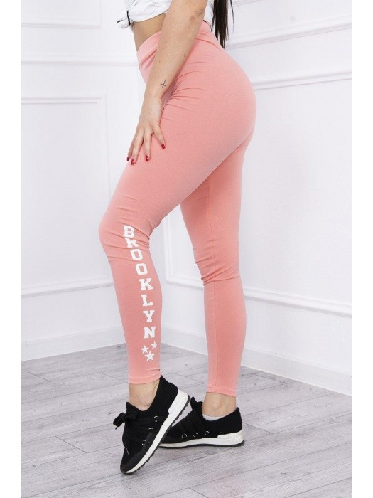 Damen Sport Leggings BROOKLYN Pfirsich