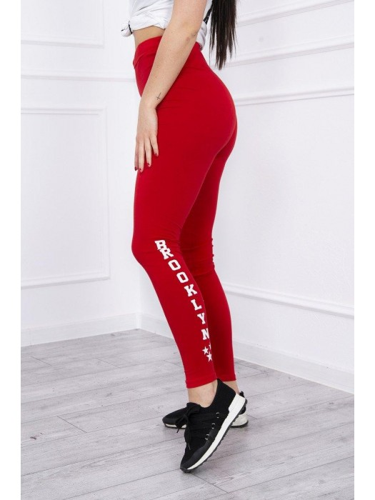 Damen Sport Leggings BROOKLYN rot