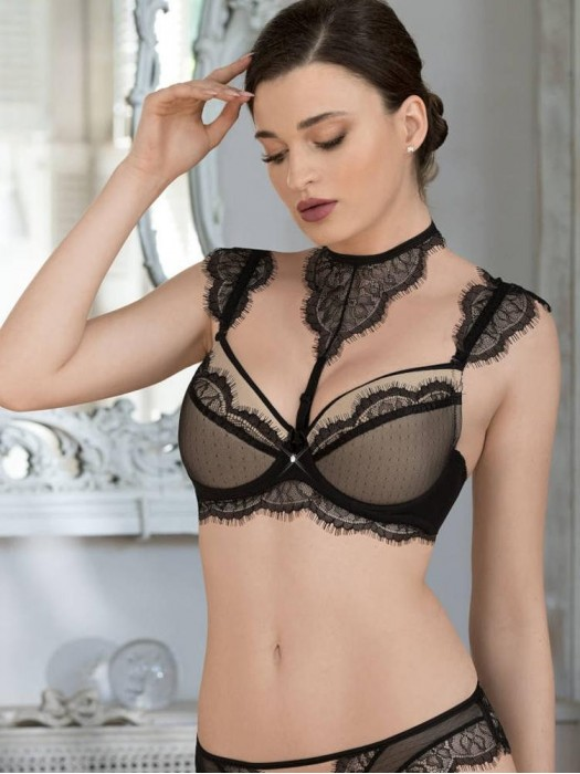 Damen BH Roža Idrisa Push up schwarz