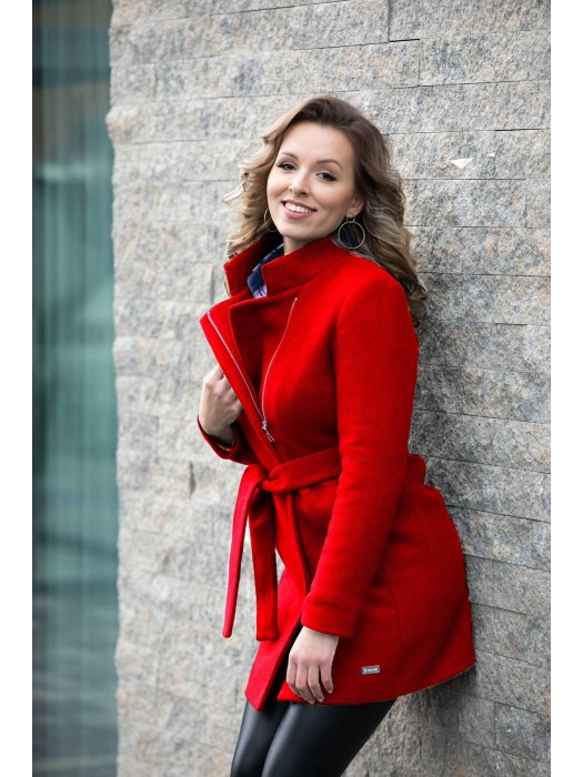 Trendy Damen Wintermantel SARA rot