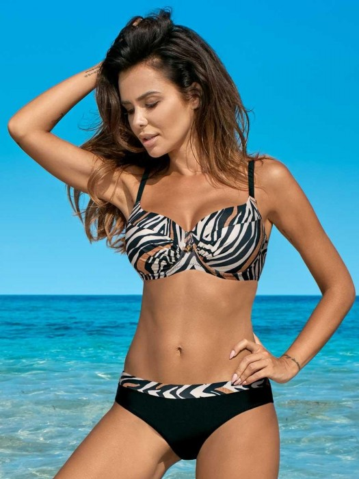 Damen Bikini 360 Esther-D A/23 schwarzer Tiger