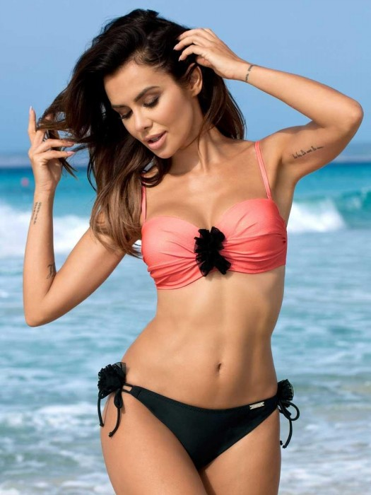 Damen Bikini 164 EVITA-NT, 01 C/F schwarz+orange