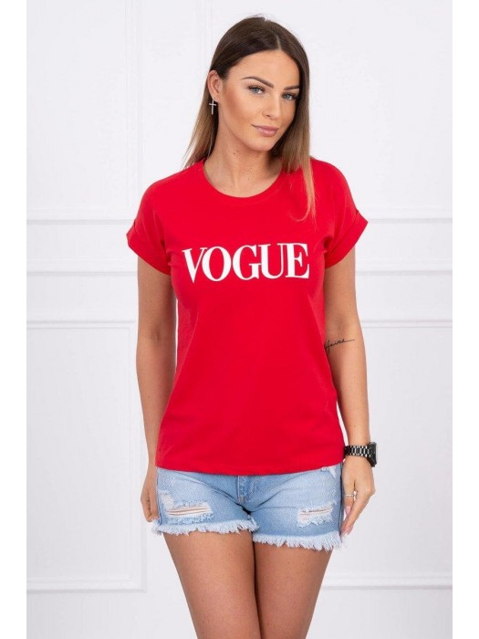Damen T-Shirt VOGUE rot 65295