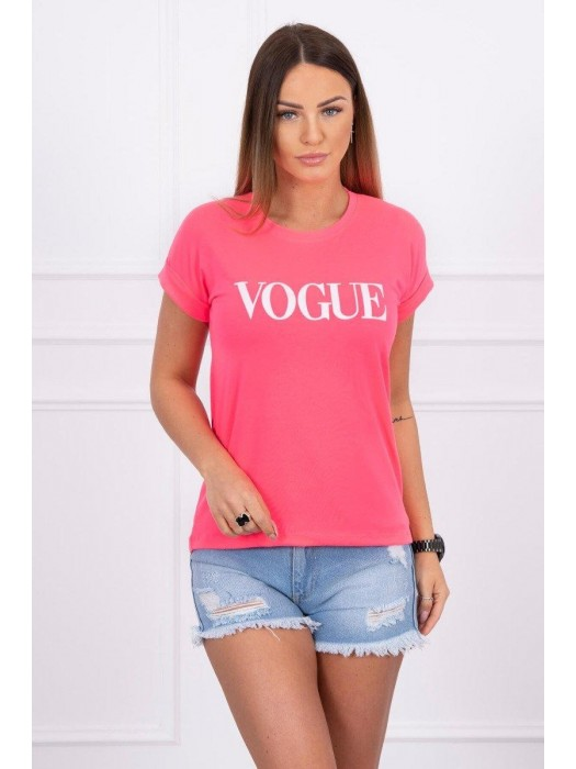 Damen T-Shirt VOGUE neon-rosa 65295