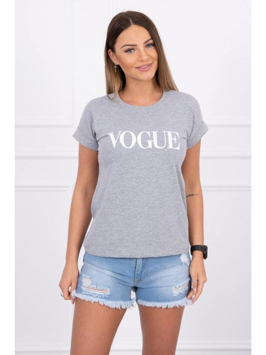 Damen T-Shirt VOGUE grau 65295