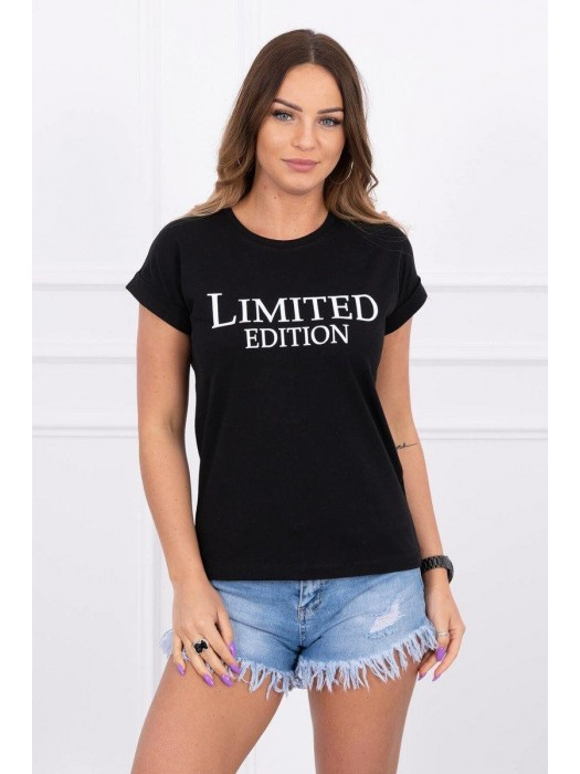 Damen T-Shirt LIMITED EDITION schwarz 65296