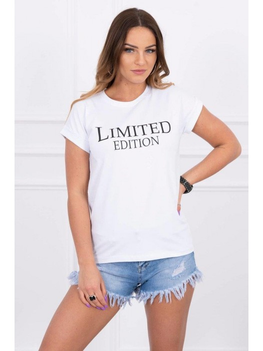 Damen T-Shirt LIMITED EDITION weiß 65296