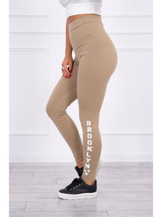 Damen Sport Leggings BROOKLYN camel