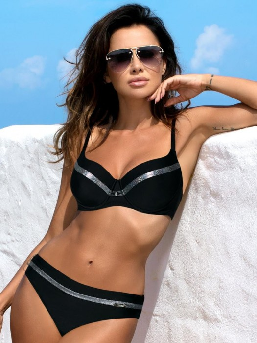 Luxus Damen Bikini 351 ESTHER-Y-GB C/C schwarz