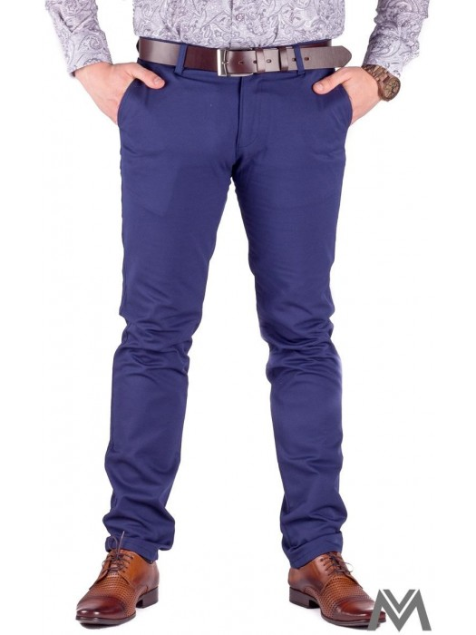 Slim Herrenhosen 48-3 in marineblau