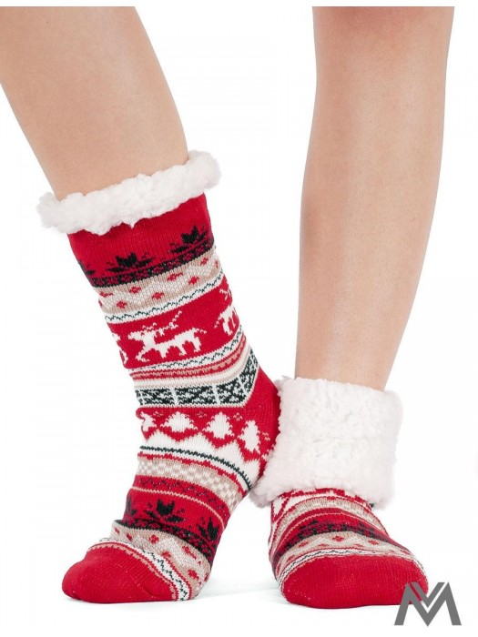 Thermo Socken Red Christmas