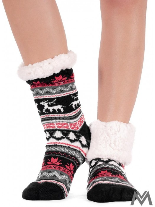 Thermosocken Christmas schwarz