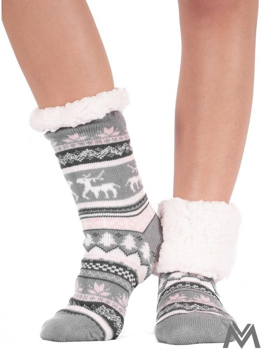 Thermo Socken Christmas grau