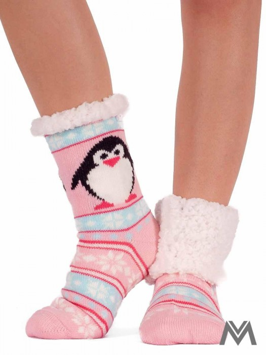 Thermo Socken Pinguin hellrosa