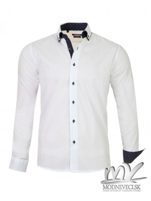 Luxus-Herrenhemd weiß SLIM FIT CUT 1431-1