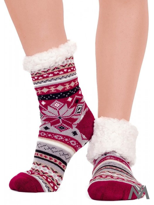 Thermo Socken Weihnachten bordo