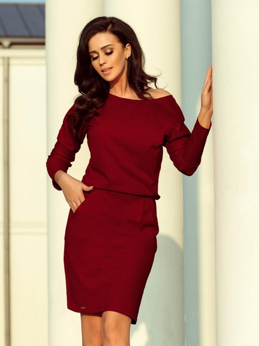 Modernes Damen Sportkleid Chabrowa 189-5 bordo
