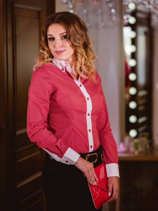 VERSABE Rot Frauen-Shirt - Slim Fit VS-DK1601
