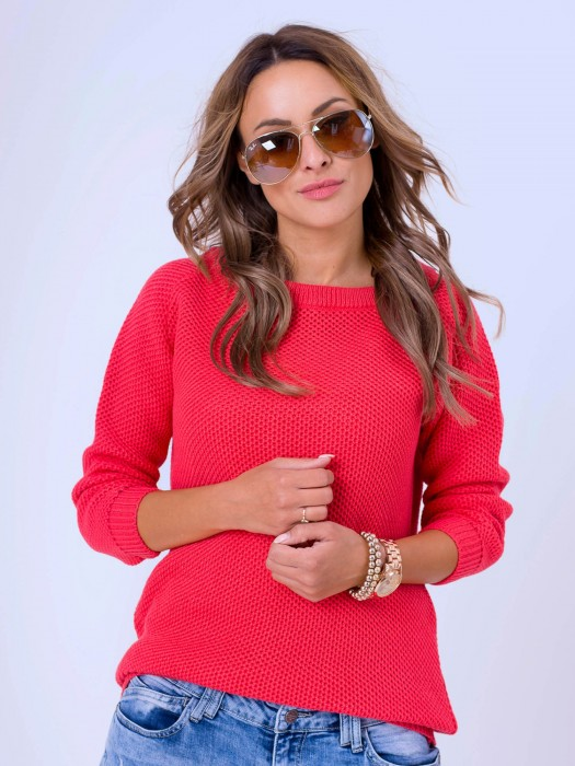 Damen Pullover HONEY - rot