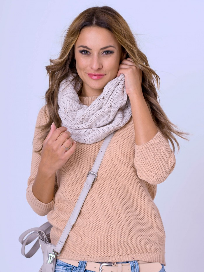 Damen Pullover HONEY - cappuccino
