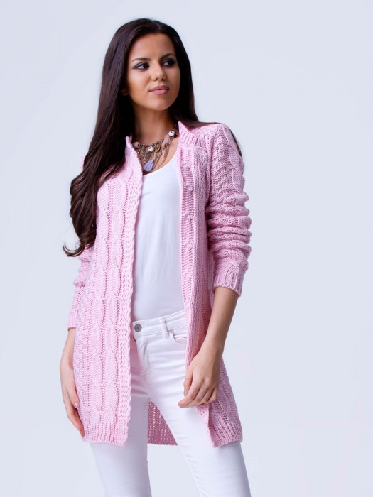 Damen Strickjacke APRIL rosa