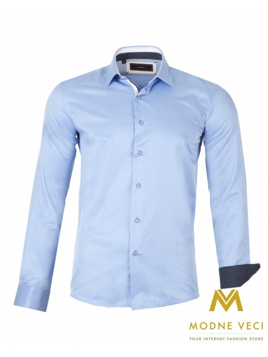 Luxus-Herrenhemd hellblau SLIM FIT CUT 1522-6