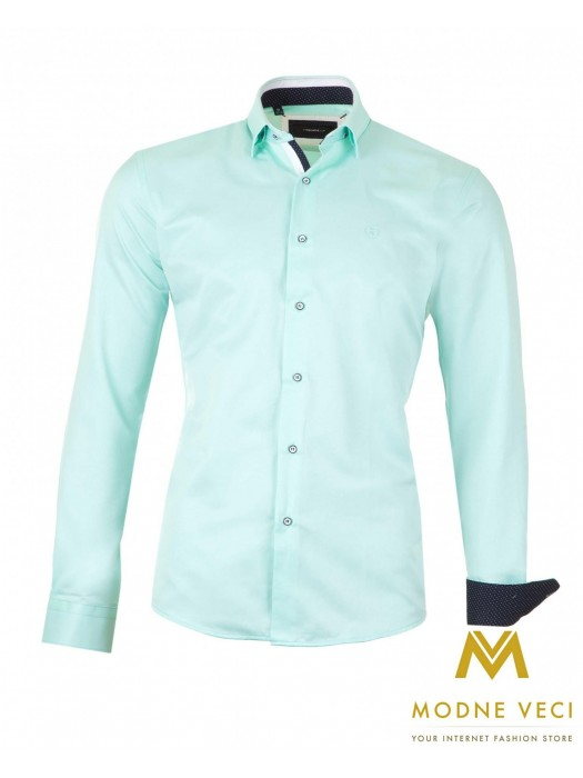 Luxus-Herrenhemd hellblau SLIM FIT CUT 1522-9