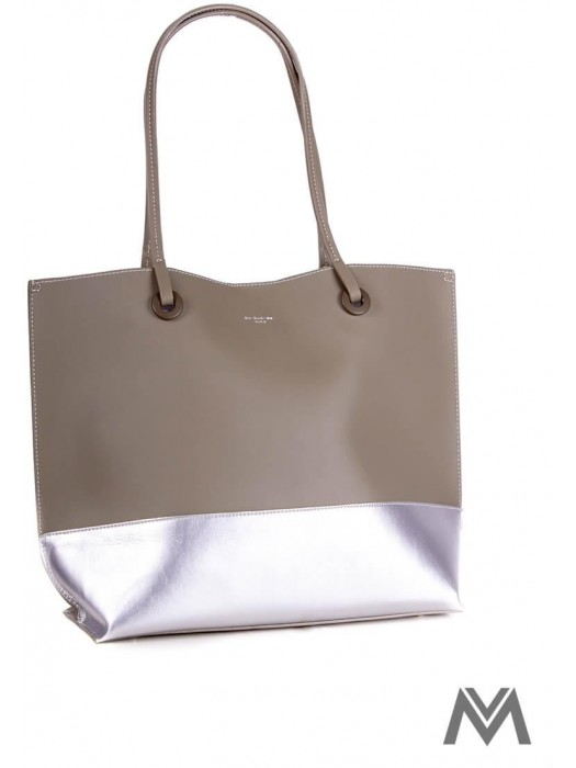 Damen Handtasche David Jones CM3771 khaki/silber