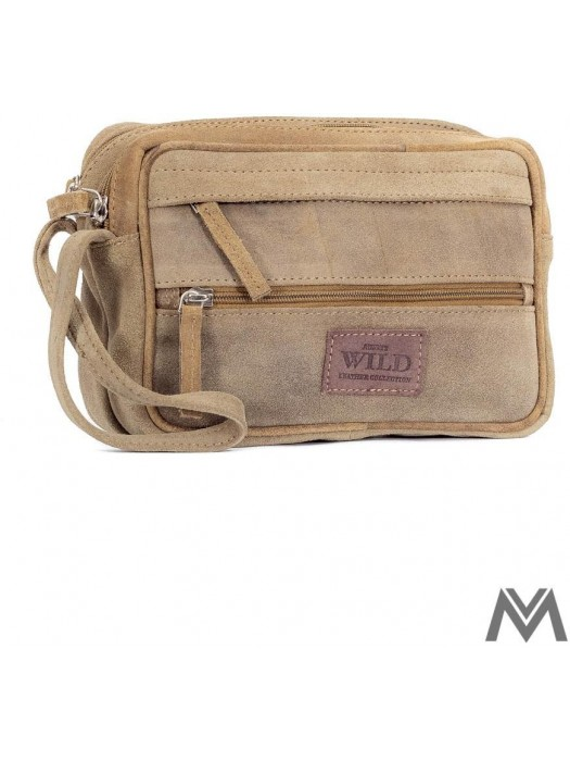Herren ETUE Tasche ALWAYS WILD in Kamelfarbe