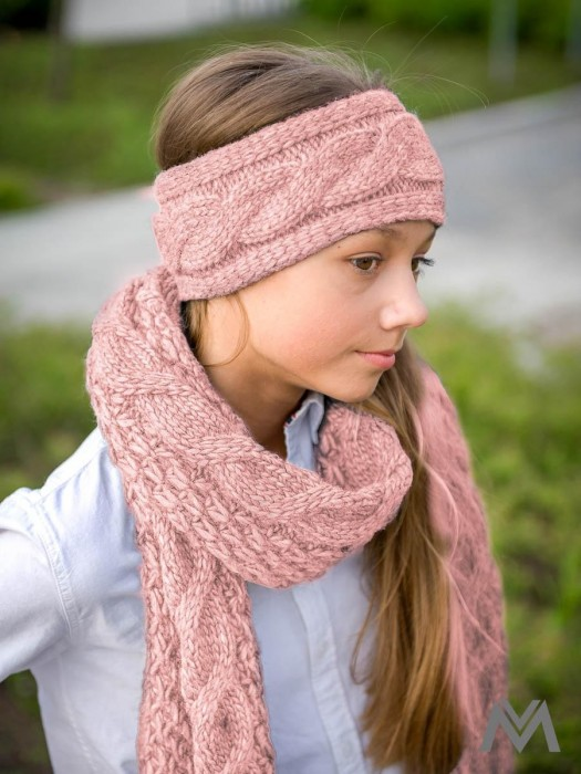 Damen Stirnband in rosa Farbe